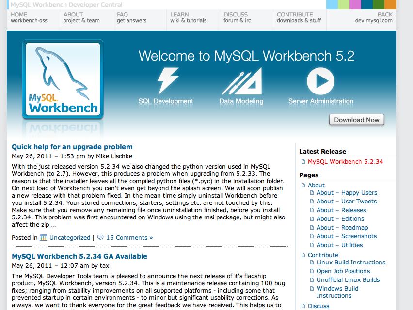 MySQL Workbench 5.2.34