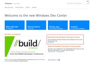 Windows8ダウンロードページへ